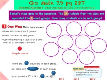 Go Math Interactive Mimio Lesson 7.9 Divide by 9