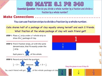 Go Math Interactive Mimio Lesson 8.1 Divide Fractions and Whole Numbers