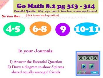 Go Math Interactive Mimio Lesson 8.2 Equal Shares