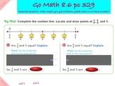 Go Math Interactive Mimio Lesson 8.6 Relate Fractions and Whole Numbers