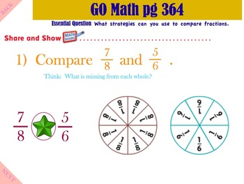 Go Math Interactive Mimio Lesson 9.4 Compare Fractions