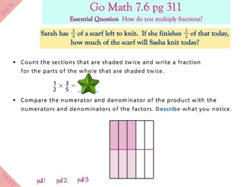 Go Math Interactive Mimio Lesson Chapter 7 Multiply Fractions