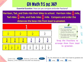 Go Math Interactive Mimio Lesson Chapter 9 Compare Fractions
