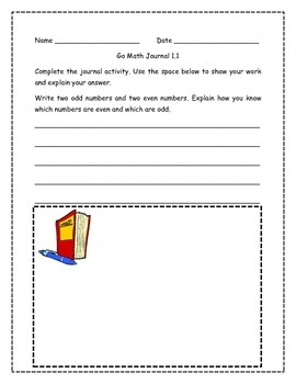 Go Math! Journal Activities for Grade 2, Chapters 1 to 11 BUNDLE