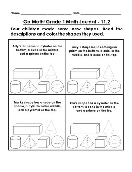 Go Math Journal Grade 1 - Chapter 11