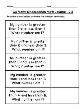 Go Math Journal Grade 1 - Chapter 2