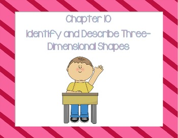 Go Math K Chapter 10 Lesson Plans Version 2012