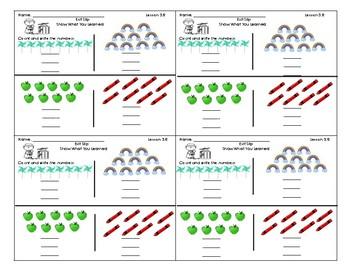 Go Math Kindergarten Assessment Chapter 3