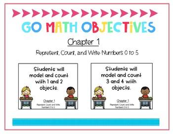 Go Math Kindergarten Chapter 1 Objectives