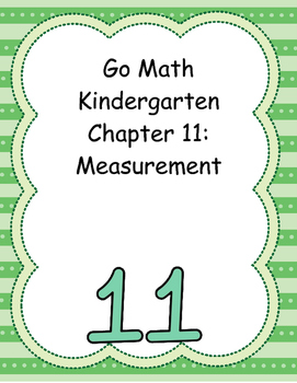 Go Math Kindergarten Chapter 11 Version 2015