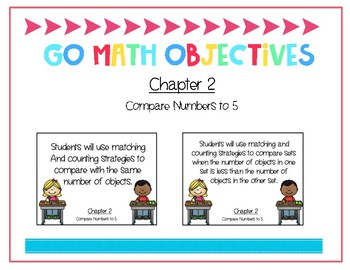 Go Math Kindergarten Chapter 2 Objectives