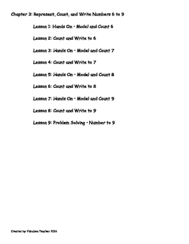 Go Math Kindergarten Chapter 3 Version 2015