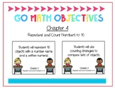 Go Math Kindergarten Chapter 4 Objectives