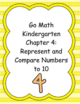Go Math! Kindergarten Chapter 4 Version 2015