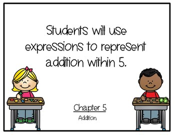 Go Math Kindergarten Chapter 5 Objectives