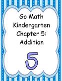 Go Math Kindergarten Chapter 5 version 2015
