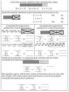 Math Kindergarten Chapter 6 Review Sheet