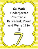 Go Math Kindergarten Chapter 7 Version 2015
