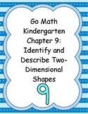 Go Math Kindergarten Chapter 9 Version 2015