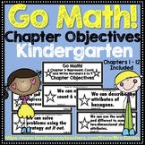 Go Math! Kindergarten Chapter Objectives
