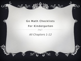 Go Math Kindergarten Checklists Chapters 1-12