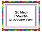 Go Math Kindergarten Essential Questions