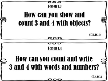 Go Math Kindergarten Essential Questions