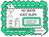 Go Math Kindergarten Exit Slips Assessment Chapter 5