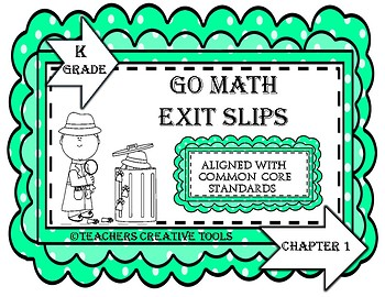 Go Math Kindergarten Exit Slips Assessment Chapter 5
