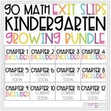 Go Math Kindergarten Exit Slips Chapter 1-12 Year Long GROWING BUNDLE