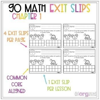 Go Math Kindergarten Exit Slips Chapter 1