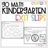 Go Math Kindergarten Exit Slips Chapter 9 - Identify and Describe 2D Shapes