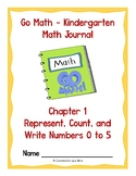 Go Math Kindergarten Journal - Chapter 1