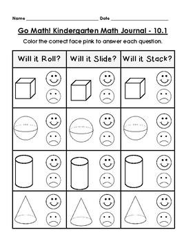 Go Math Kindergarten Journal - Chapter 10