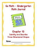 Go Math Kindergarten Journal - Chapter 10