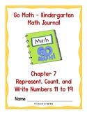 Go Math Kindergarten Journal  - Chapter 7