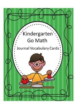 Go Math Kindergarten Journal Vocabulary Cards