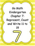 Go Math Kindergarten Chapters 7-12 (Version 2015)