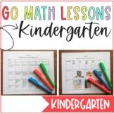 Go Math Kindergarten Lesson Plans ALL YEAR