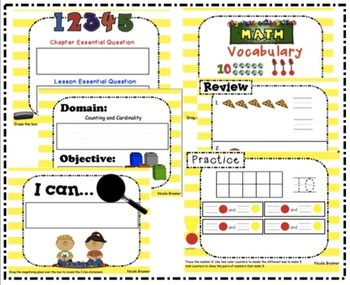Go Math Kindergarten Unit 4 SMARTboard Lessons