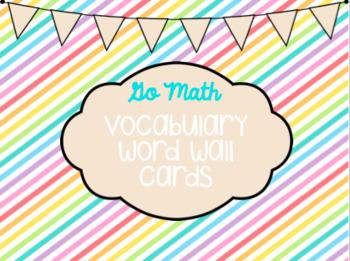 Go Math Kindergarten Vocab For The Year!
