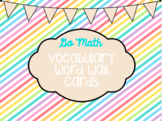 Go Math Kindergarten Vocab For The Year!
