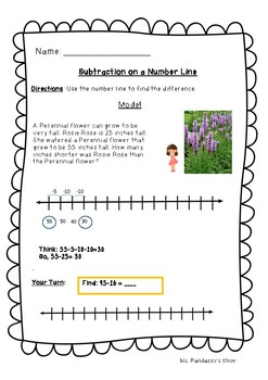 Go Math Lesson 1.9 - Subtraction on a Number Line