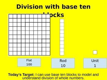 Go Math Lesson 2.3- Division with base ten blocks