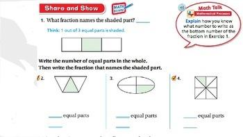 Go Math Lesson 2.2 Unit Fractions of a Whole