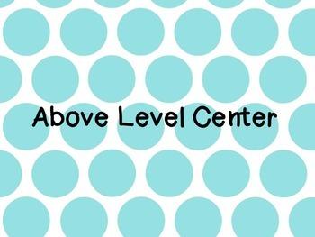 Go Math Lesson 8.2 Leveled Centers