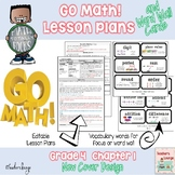 Go Math Lesson Plans Unit 1 -  Word Wall Cards - EDITABLE