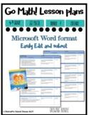 Lesson Plan Bundle 4th Grade {1st 6 Weeks Editable} Go Math! CC
