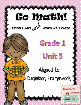 Go Math Lesson Plans Unit 5 - Word Wall Cards - EDITABLE - Grade 1