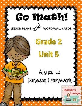 Go Math Lesson Plans Unit 5 - Word Wall Cards - EDITABLE - Grade 2